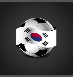 South korea flag around the football vector