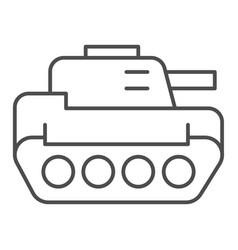 tank thin line icon panzer vector image