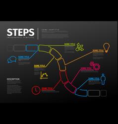 thin line steps progress timeline template vector image
