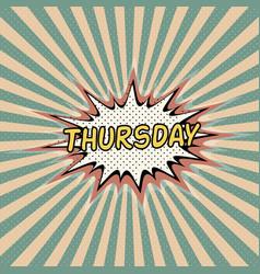 Thursday day week comic sound vector