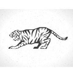 Tiger logo emblem template mascot symbol vector image