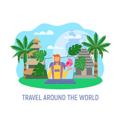 travel and blogging vector image