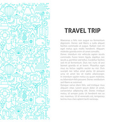 Travel trip line pattern concept vector