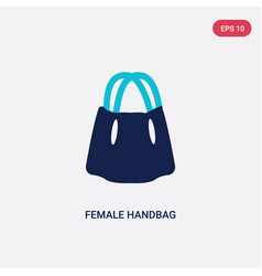 two color female handbag icon from fashion vector image