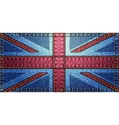 United Kingdom Flag patchwork vector image