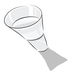 water glass color vector image