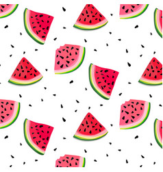 Watermelon slices pattern summer fresh vector