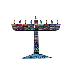 Hanukkah Jewish religious holiday Chanukah vector image vector image