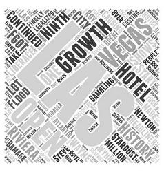 History of Las Vegas Word Cloud Concept vector image