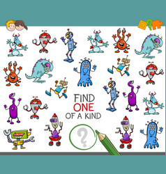 one of a kind activity game vector image vector image