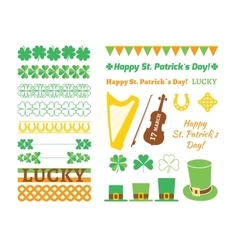 Set of Saint Patricks Day design elements vector image vector image
