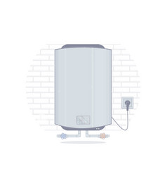 water heater cartoon style vector image