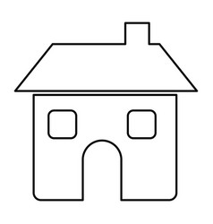 figure house with two windows door and chimney vector image