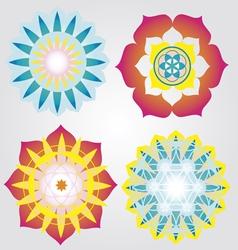 Mini Mandalas icons vector image