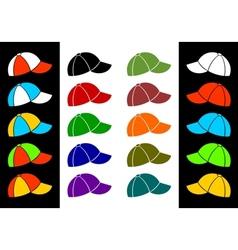 Multicolored baseball cap vector image vector image