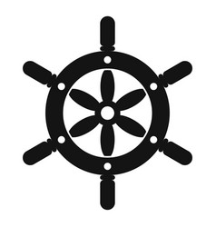 ship wheel icon simple style vector image vector image