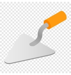Trowel isometric 3d icon vector image vector image