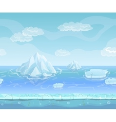 Cartoon winter landscape with iceberg and ice vector image vector image