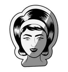 Isolated retro woman cartoon design vector image