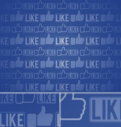 Like thumbs up seamless background vector