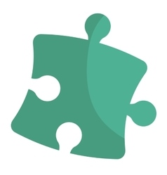 Puzzle piece isolated flat icon vector image