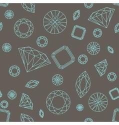 Seamless pattern diamonds vector image