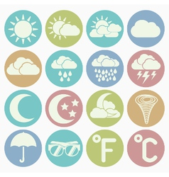 white icons weather vector image