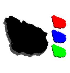 3d map of uruguay vector image