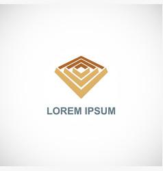 3d maze company logo vector image
