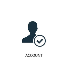 Account icon simple element account vector
