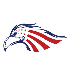 american eagle head logo vector image