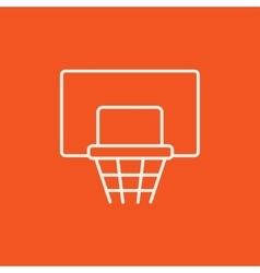 Basketball hoop line icon vector image