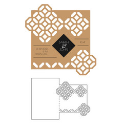 beautiful card with geometry elemens vector image