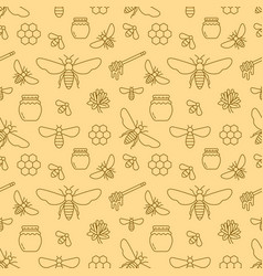 Beekeeping seamless pattern apiculture vector