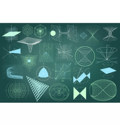 Big collection of elements symbols and schemes vector