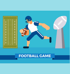 Big football game party vector