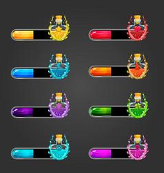 Big set bar downloader with elexir bottles vector