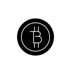 bitcoins technology black concept icon vector image
