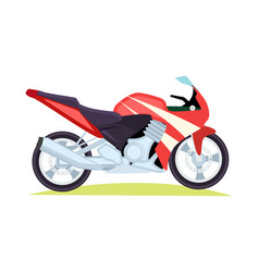 Black and red modern motorbike on white background vector