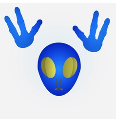 Blue alien vector image