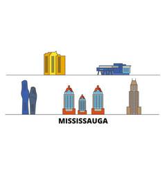 canada mississauga flat landmarks vector image