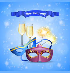 celebration party realistic composition vector image
