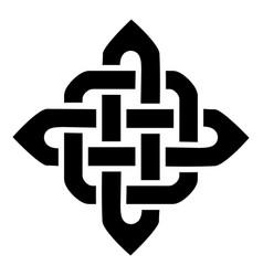 celtic style square shape element vector image