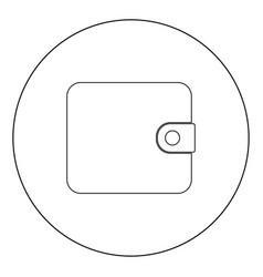 change purse icon black color in circle vector image