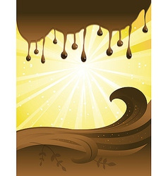 Chocolate Sun Background vector