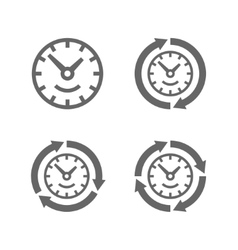 clocks with arrows as a symbol run time vector image