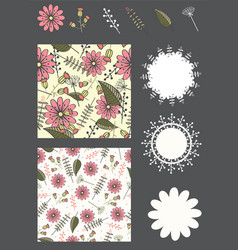 Collection of design elements for invitation card vector