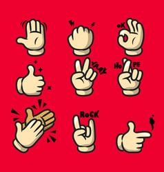 Comic cartoon hand gesture vector