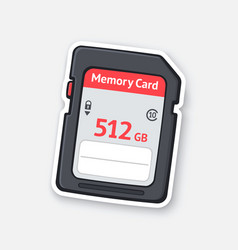 Compact memory card flash drive vector