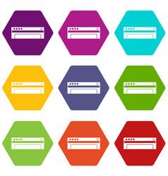 conditioner icon set color hexahedron vector image